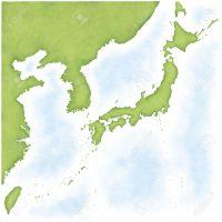 46401149-韓国・北朝鮮、台湾・中国に日本地図