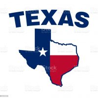 Texas map with Texas map overlay vector illustration